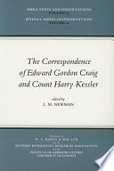 The Correspondence Of Edward Gordon Craig And Count Harry Kessler 1903 1937
