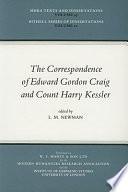 The Correspondence of Edward Gordon Craig and Count Harry Kessler  1903 1937
