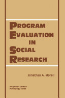 Program Evaluation in Social Research