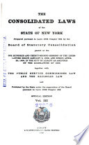 The Consolidated Laws of the State of New York