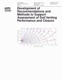 download ebook development of recommendations and methods to support assessment of soil venting performance an closure pdf epub