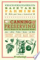 Backyard Farming  Canning   Preserving