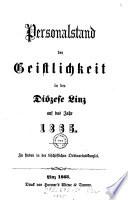 Personalstand der Geistlichkeit in der Diözese Linz