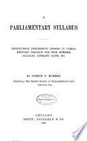 A Parliamentary Syllabus Book PDF