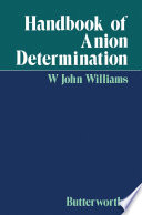 Handbook of Anion Determination
