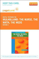 The Nurse The Math The Meds Pageburst Access Code