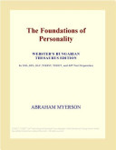 The Foundations of Personality  Webster s French Thesaurus Edition
