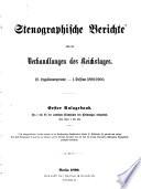 Stenographische Berichte   ber die Verhandlungen des Deutschen Reichstages