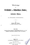 Beiträge zur Geschichte der böhmischen Länder insbesondere Mährens, im 17. Jahrhundert