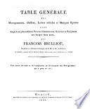 Table Generale des Monogrammes, Chiffres, Lettres initiales et Marques figurees