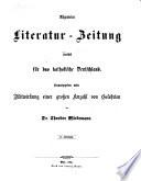 Allgemeine Literatur Zeitung  zun  chst f  r das katholische Deutschland