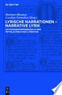 Lyrische Narrationen – narrative Lyrik