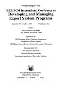 Proceedings of the IEEE ACM International Conference on Developing and Managing Expert System Programs