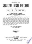 Gazzetta degli ospedali e delle cliniche