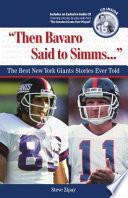 Then Bavaro Said to Simms