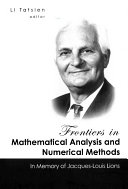 Frontiers in Mathematical Analysis and Numerical Methods