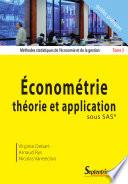 M  thodes Statistiques de L   conomie Et de la Gestion    conom  trie  th  orie et application sous SAS  trademark symbol
