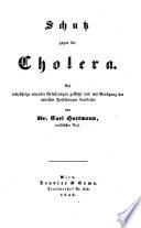 Schutz gegen die Cholera