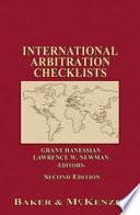 International Arbitration Checklists   Second Edition
