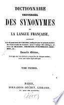 Dictionnaire universel des synonymes de la langue fran  aise
