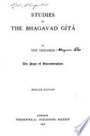 Studies in the Bhagavad G  t   by The Dreamer Book PDF