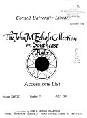 The John M. Echols Collection on Southeast Asia Accessions List