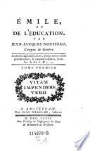 Émile, Ou De L'Éducation ; Tome Premier