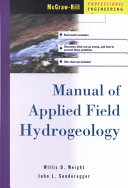 Manual of Applied Field Hydrogeology