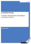 E. Spenser: Interpretation und Vergleich von Sonett 54 und 71