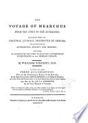 The Voyage of Nearchus from the Indus to the Euphrates