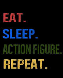 Book Eat Sleep Action Figure Repeat