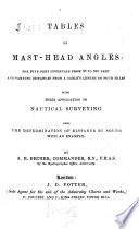 Tables Of Mast Head Angles For Five Feet Intervals From 30 To 280 Feet And Varying Distances From Acable S Length To Four Miles With Their Application To Nautical Surveying