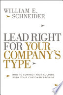 Lead Right for Your Company s Type