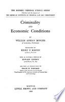 Criminality and Economic Conditions