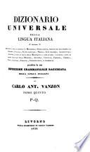 Dizionario universale della lingua italiana       preceduto da una esposizione grammaticale ragionata della lingua italiana