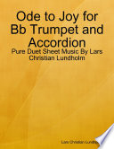 Ode to Joy for Bb Trumpet and Accordion   Pure Duet Sheet Music By Lars Christian Lundholm