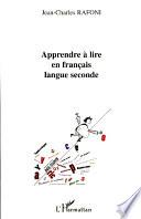 Apprendre    lire en fran  ais langue seconde