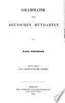 Grammatik der deutschen Mundarten