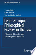 Leibniz  Logico Philosophical Puzzles in the Law