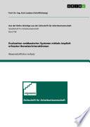 Evaluation webbasierter Systeme mittels implizit erfasster Benutzerinteraktionen