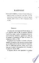 Rapport présenté par M. Parrot, au comité de la Société biblique protestante de Paris, en la séance du 3 mars 1863, sur la demande faite par plusieurs églises de la version du Nouveau Testament publiée à Genève en 1835 et réimprimée à Paris en 1862
