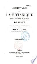 Commentaires sur la botanique et la mati  re m  dicale de Pline