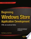 Beginning Windows Store Application Development Html And Javascript Edition