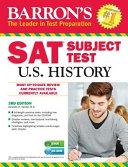 Barron s SAT Subject Test  U S  History W CD ROM  3rd Edition