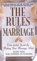 The Rules TM  for Marriage