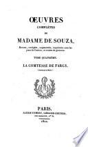 Œuvres complètes de Madame de Souza