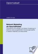 Network Marketing als Geschäftsidee