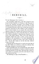 Book Memorial  addressed to the City Council of Boston  Massachusetts  concerning the award of the contract for the city printing