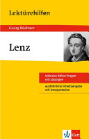 Klett Lekt  rehilfen   Georg B  chner  Lenz
