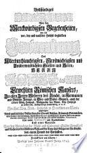Merkwürdiges Diarium sowohl von der Wahl und Crönung ... Carls VII. wie solche ... in Frankfurt a. M. wollzogen worden. Mit Kupfern